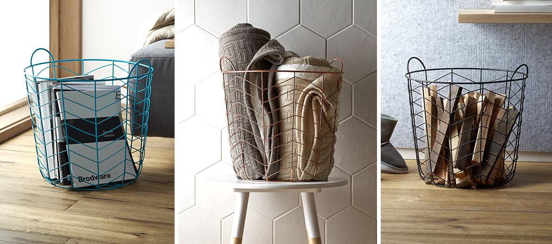 Turn a wire basket into a stylish storage solution Kmart