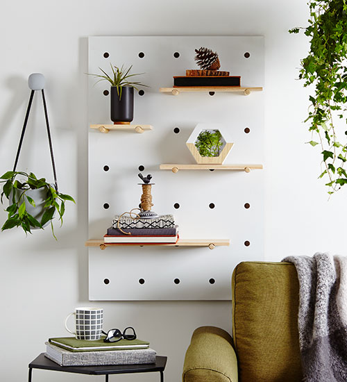 peg board love 3 creative styling tricks kmart. Black Bedroom Furniture Sets. Home Design Ideas