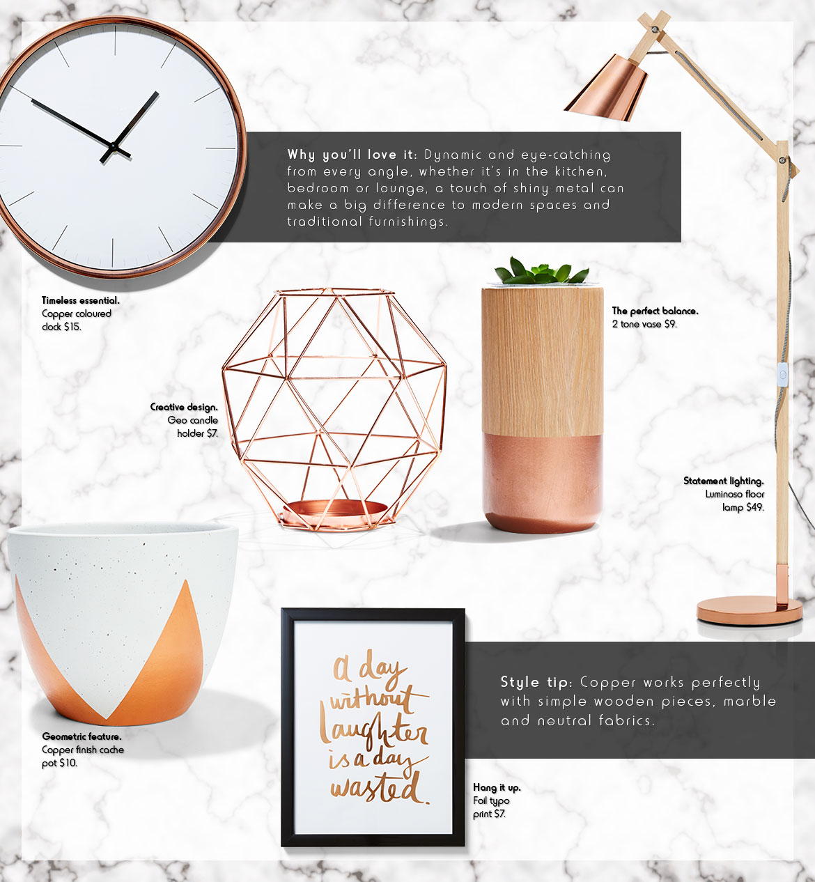 copper homewares kmart