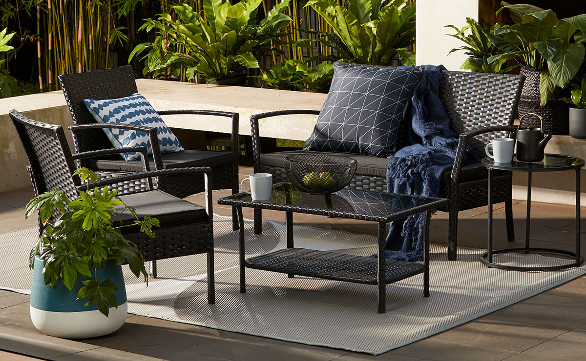 Kmart cushions for outdoor furniture for Outdoor living patio furniture