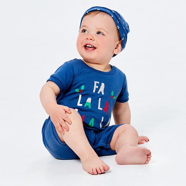 758e0d41d913 Help baby get into the Christmas spirit with these fun styles. The bodysuit  and romper will keep baby comfy as you get snap happy. With the ideal outfit