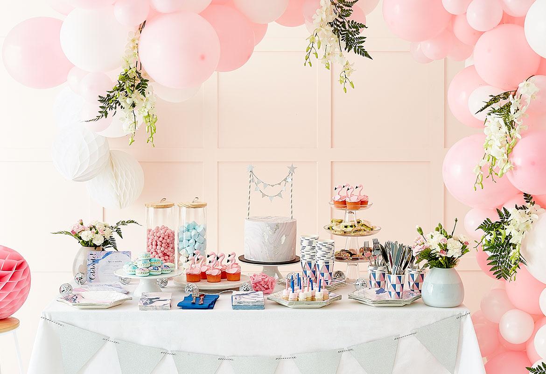 Decorating Gift Shop Stylish Party Decor Midnight Pastel Marble Kmart
