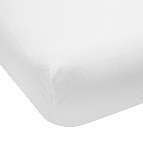 225 Thread Count Fitted Sheet - Single Bed, White