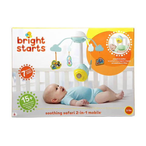 Bright Starts Soothing Safari 2 In 1 Mobile