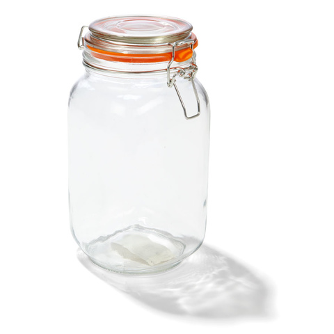 Glass canister with lid - large