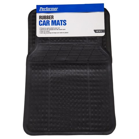 Rubber Car Mats - Set of 4