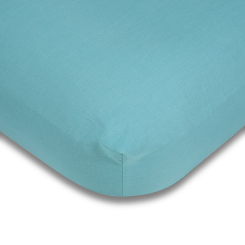 180 Thread Count Fitted Sheet - Queen Bed, Aqua