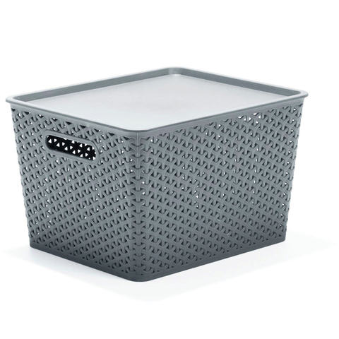 18L Storage Container with Lid - Grey