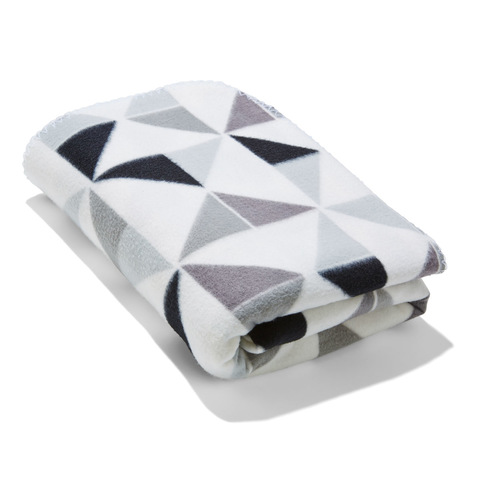 Polar Fleece Throw - Geo