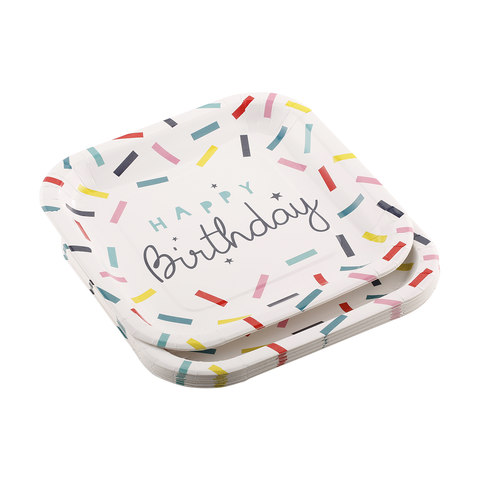 Paper Plates - Happy Birthday, Pack of 16