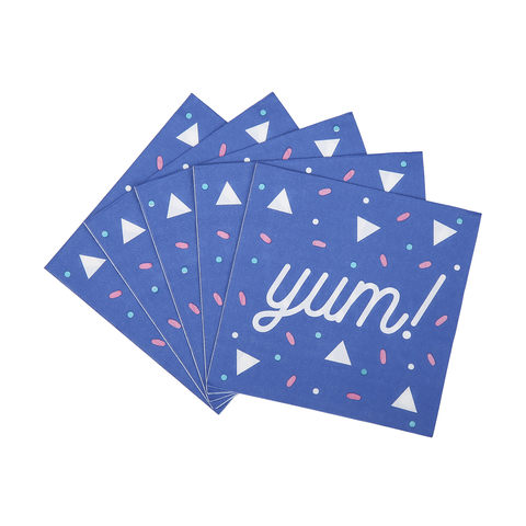 2 Ply Napkins - Yum!, Pack of 20