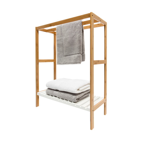 Shoptagr | Towel Rail With Bamboo Frame by Kmart