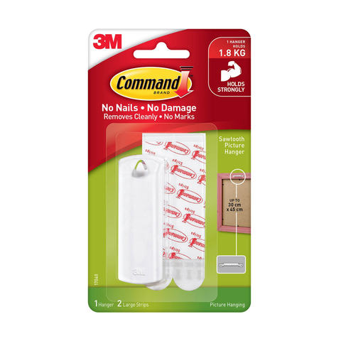 3M Command Large Sawtooth Picture Hanger - White