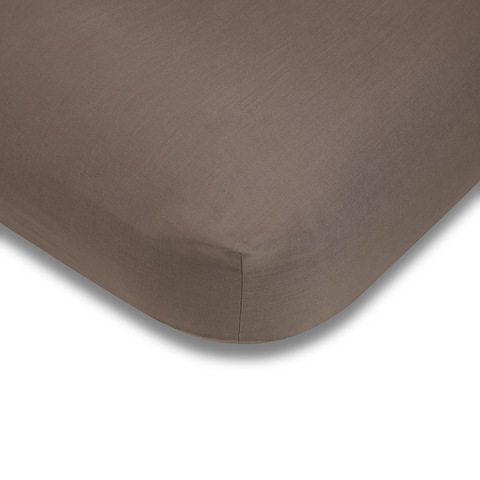 180 Thread Count Fitted Sheet - King Single Bed, Mocha