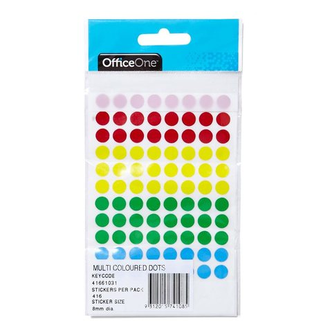 Multi coloured dot stickers bumper pack of 416