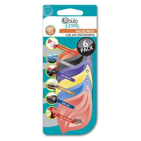 Assorted Card Air Freshener Pack of 6