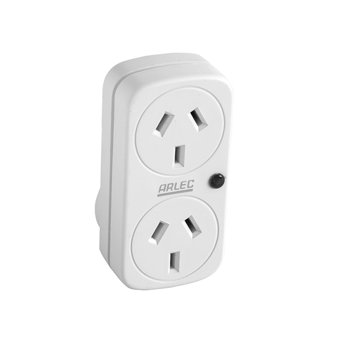 Surge Protected Double Adaptor