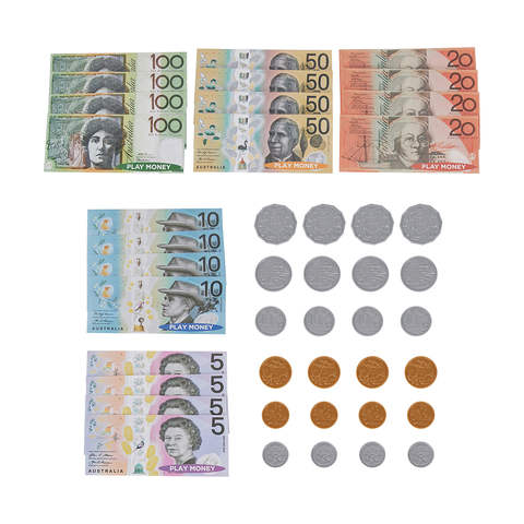 4 Pack Children/'s Educational Play Money