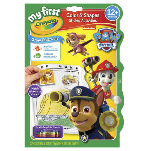 My First Crayola Paw Patrol Colour & Shapes Sticker Activities