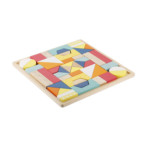 50-Piece Wooden Blocks