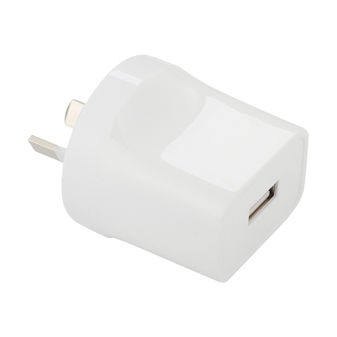 Universal USB AC Charger - White