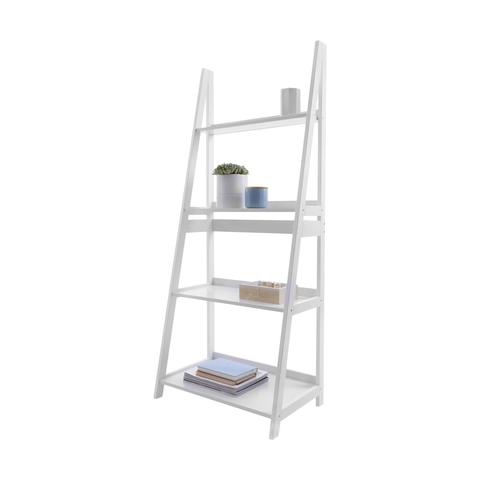 4 Tier Ladder Shelf White Kmart