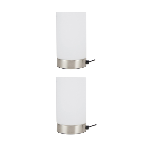 Set Of 2 Glass Touch Lamp Kmart