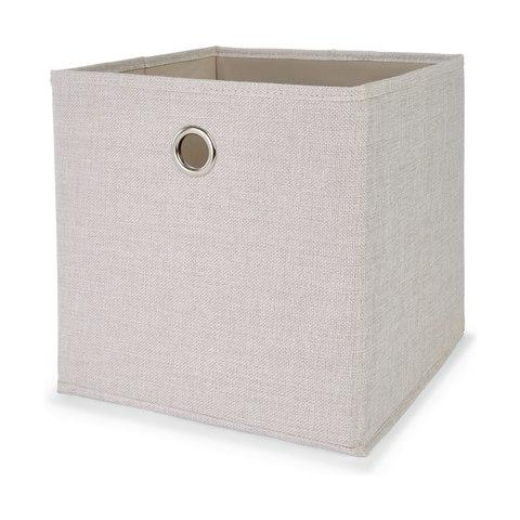 Collapsible Storage Cube Beige Kmart