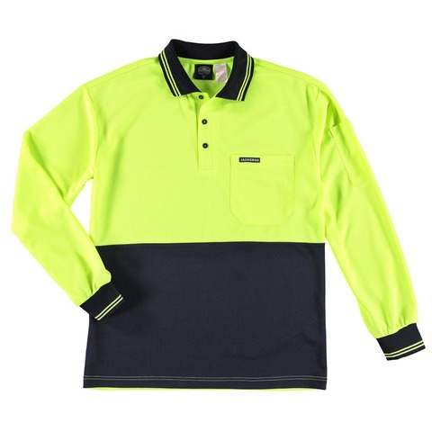 Long Sleeve Workwear Fluorescent Polo Tee
