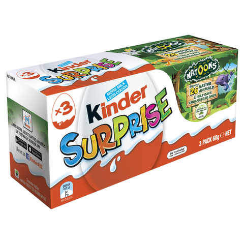 Kinder Surprise - 60g, Set of 3