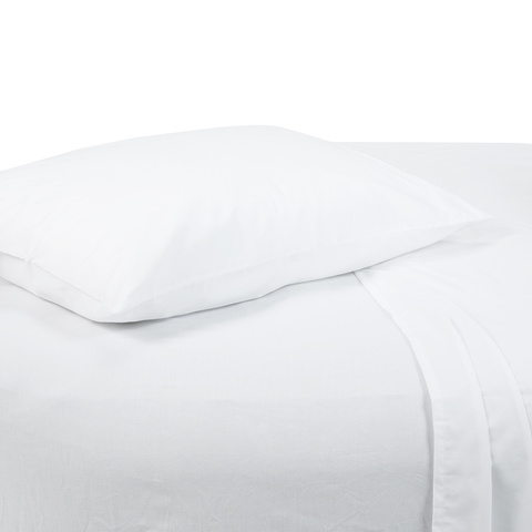 180 Thread Count Sheet Set - Single Bed, White