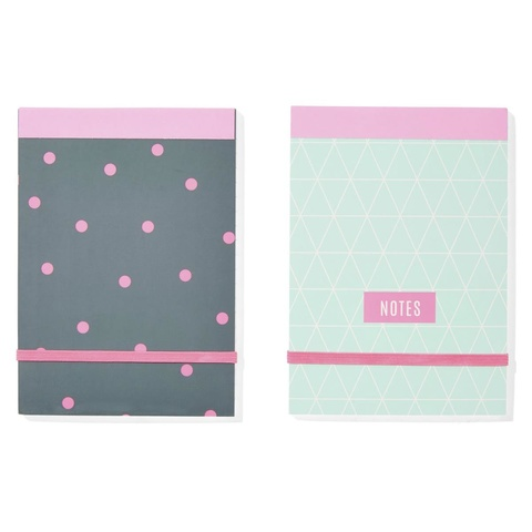 Notepad - Neon, A6, 2 Pack