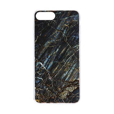 iPhone 6 Plus 6S Plus 7 Plus 8 Plus Black Marble Print Case  492bef46b8a8