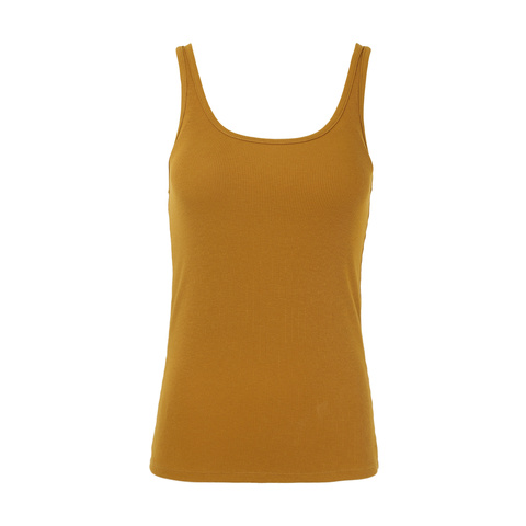 *BRAND NEW* WOMEN/'S FASHION SIZE 10 MUSTARD RRP £8.00 TIGHT FIT TANK TOP