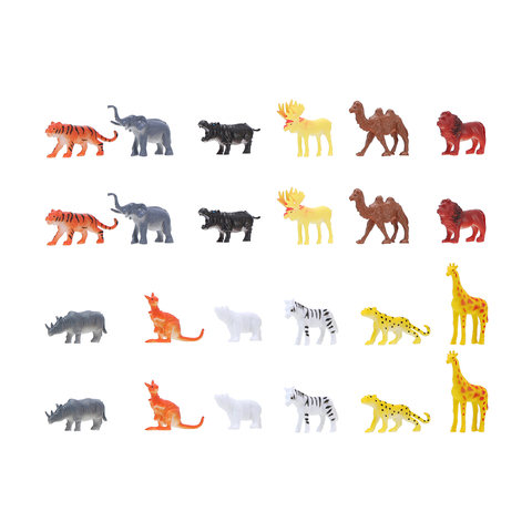 Plastic Wild Animals - 24 Pieces