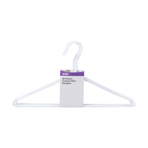 Wire Hangers - Pack of 10 | Kmart