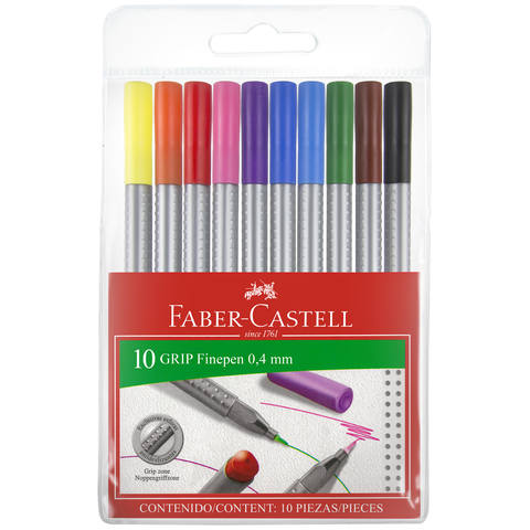 Faber-Castell Grip Finepen - Pack of 10