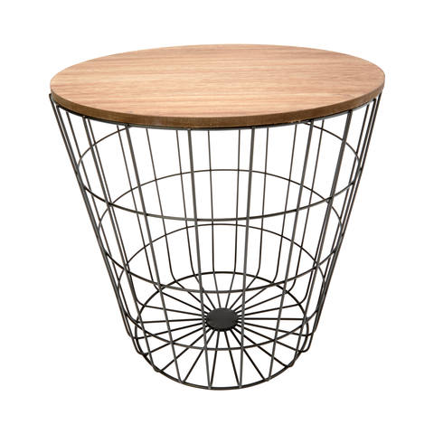 Storage wire basket table natural look black kmart storage wire basket table natural look black greentooth Images