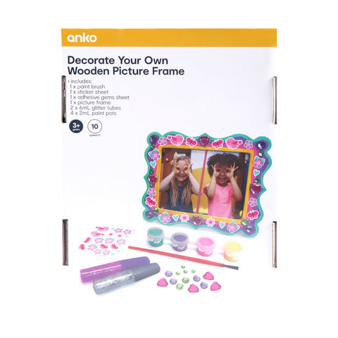 10 Piece Paint Your Own Wood Picture Frame Kmart