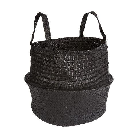 Black Seagrass Basket by Kmart