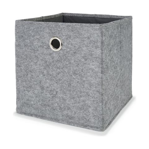 Collapsible Storage Cube Grey Kmart