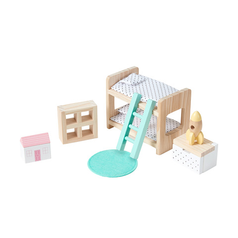 Bunk Bed Vktech/® Wooden Dollhouse Funiture Kids Child Room Set Play Toy