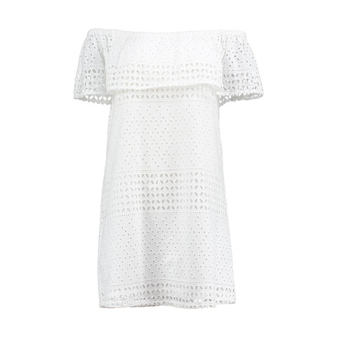 Broderie Off Shoulder Dress