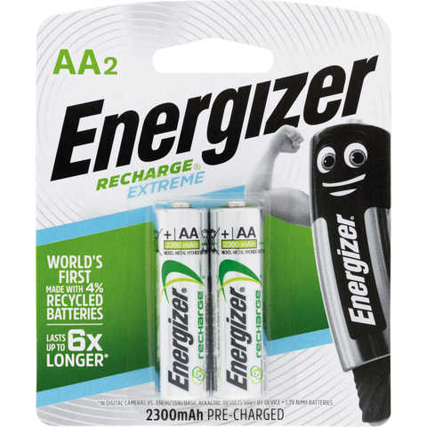 Energizer Recharge Extreme Batteries - AA, Set of 2