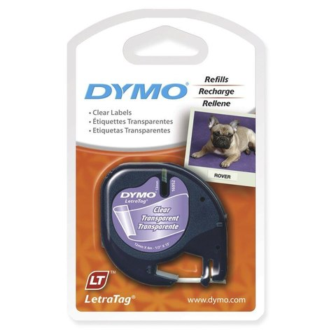 Dymo Letratag Label Tape - Clear