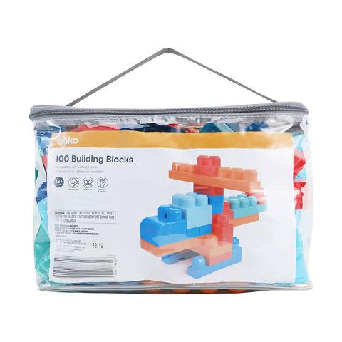 100 piece block bag kmart