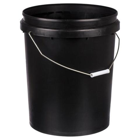 Plastic Bucket Black 20 Litre Kmart