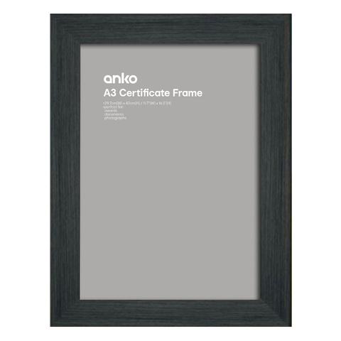 Certificate Frame - A3, Black   Kmart