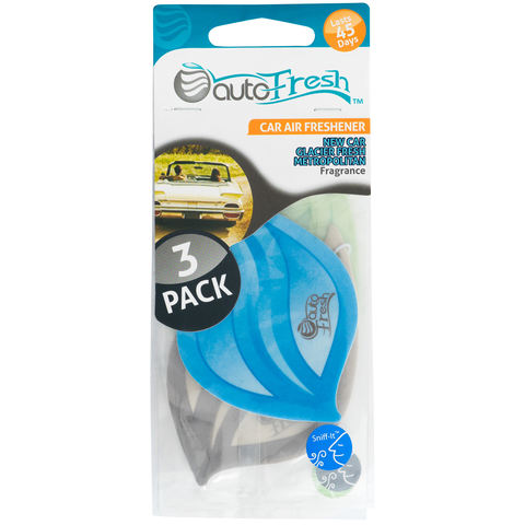 New Car Glacier Fresh Metropolitan Card Air Freshener - Set of 3