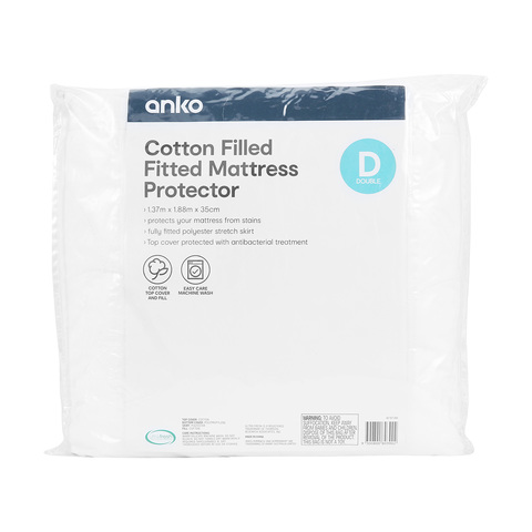 Cotton Filled Mattress Protector - Double Bed